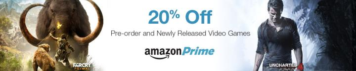 20% off pre-orders at amazon